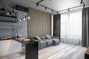 гостиная- living room2 в стиле лофт