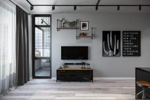 гостиная- living room3 в стиле лофт
