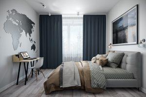 спальня- bedroom4 в стиле лофт