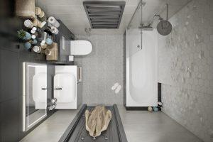 Современная совмещенная ванная комната