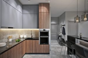 Зона готовки на кухне