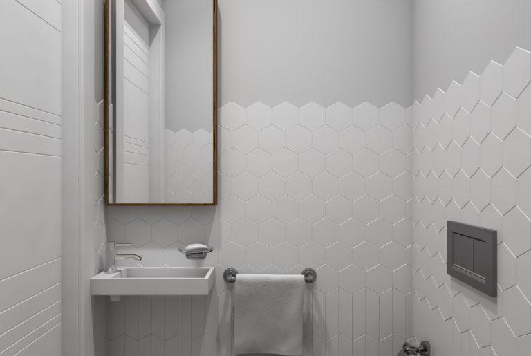 небольшой светлый туалет