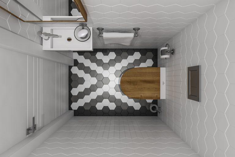 туалет вид сверху