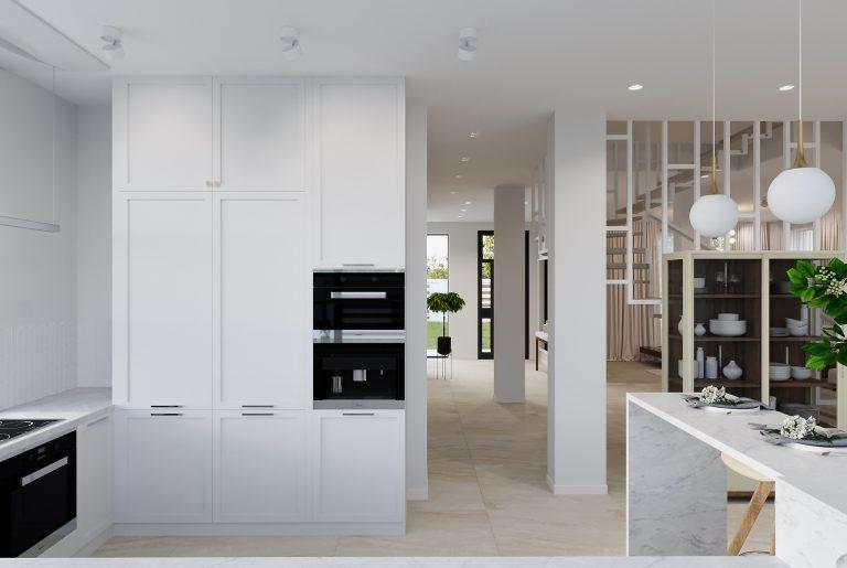 кухонный гарнитур белого цвета