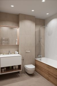 мастер-ванная с унитазом