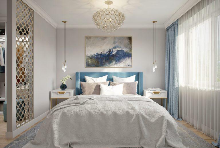нежная спальня с артом
