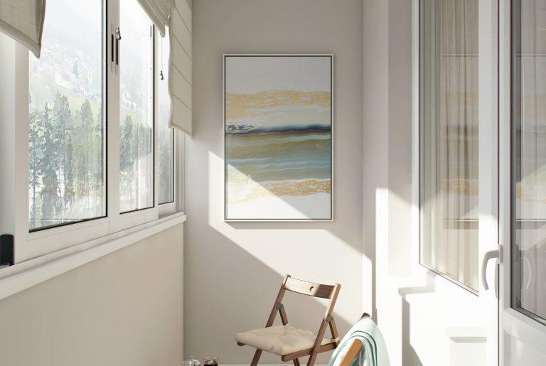 балкон с кофейным столиком