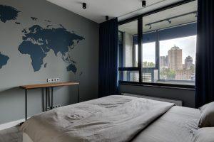 декорирование стены в спальне