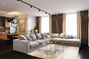 зона релакса с большим диваном