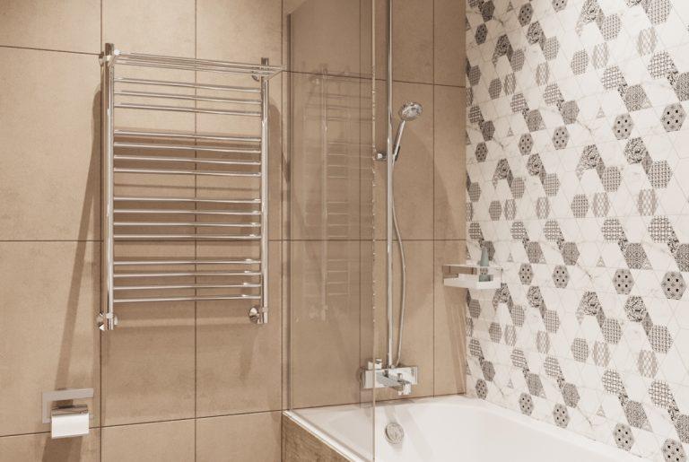 мозаика на стене ванной