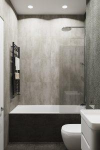 ванная в серых тонах