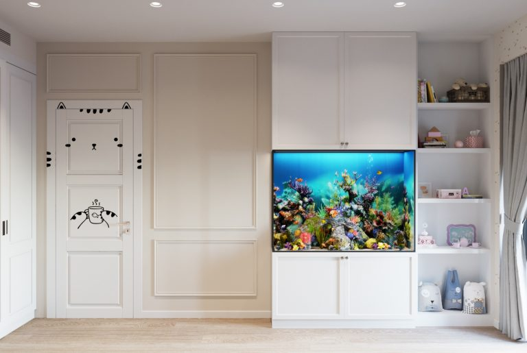 большой аквариум в детской