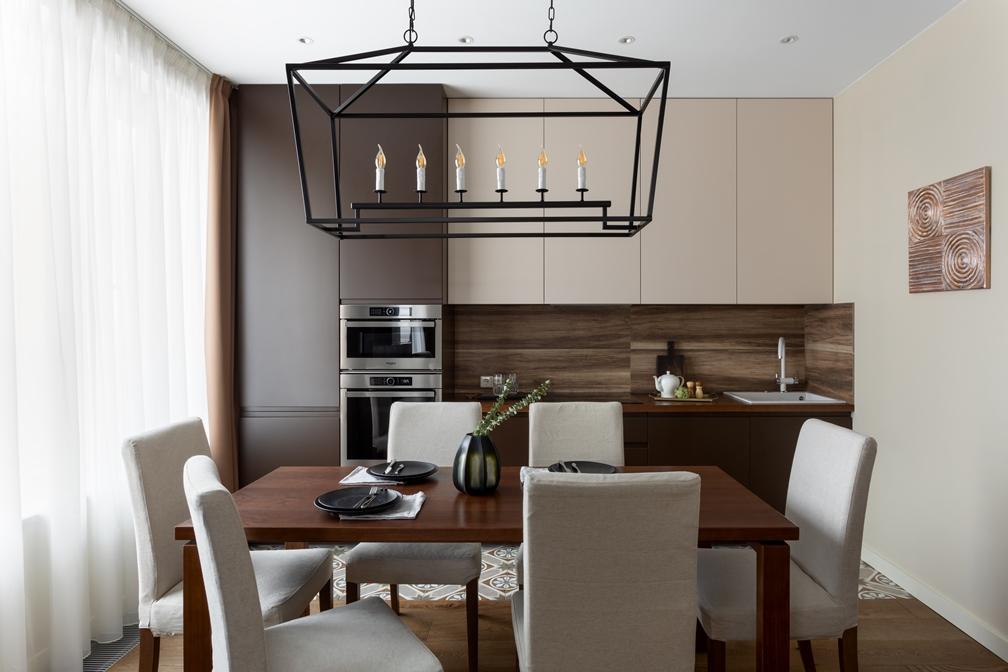 зона готовки в гостиной