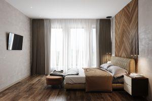 банкетка в гостевой спальне