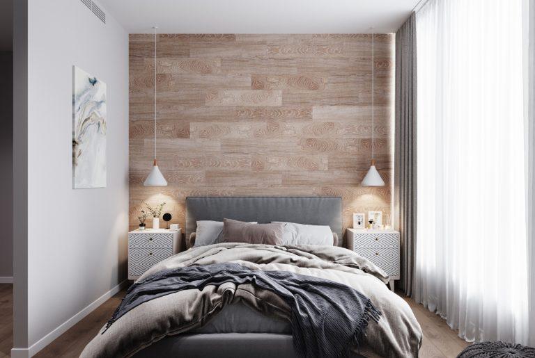 Фронтальный вид на спальню