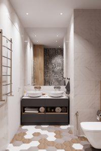 мастер-ванная с двойной раковиной