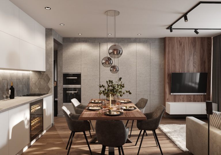 The apartment of 71 sq.m. in a contemporary style