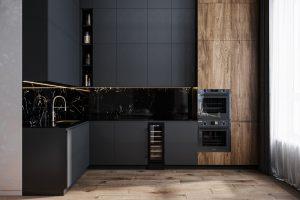 кухонный гарнитур и зона готовки