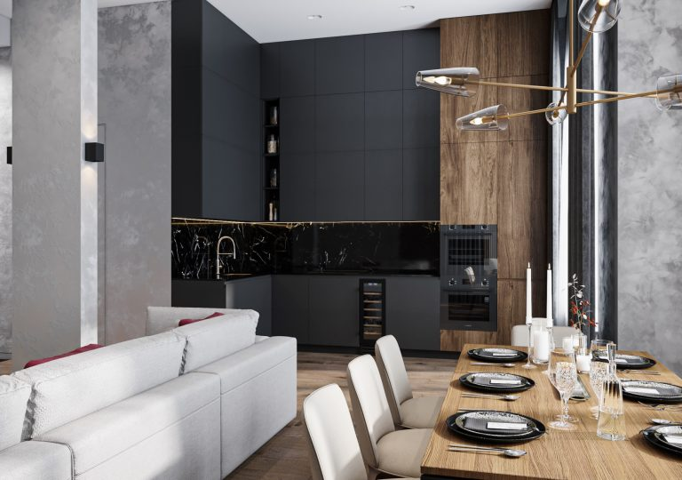 The apartment of 132 sq.m. in a contemporary style