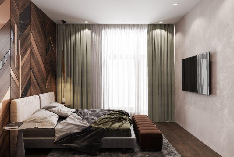 просторная мастер спальня