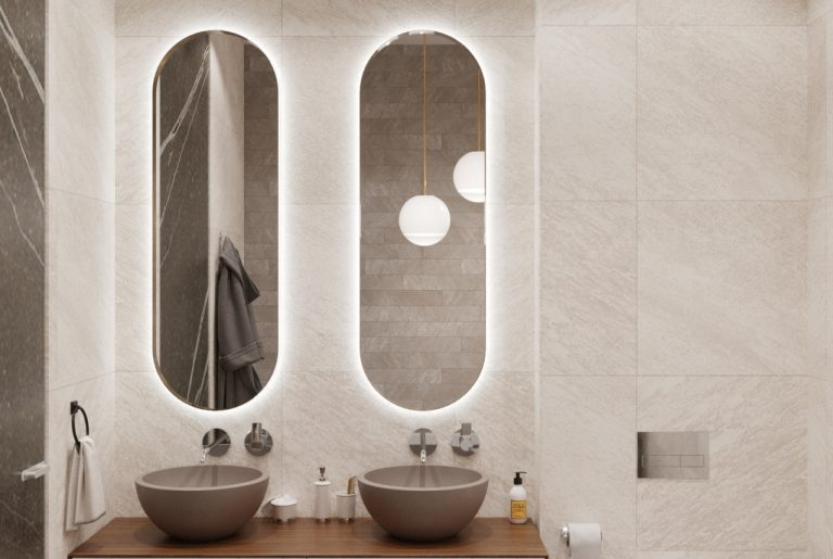 умывальники в мастер-ванной