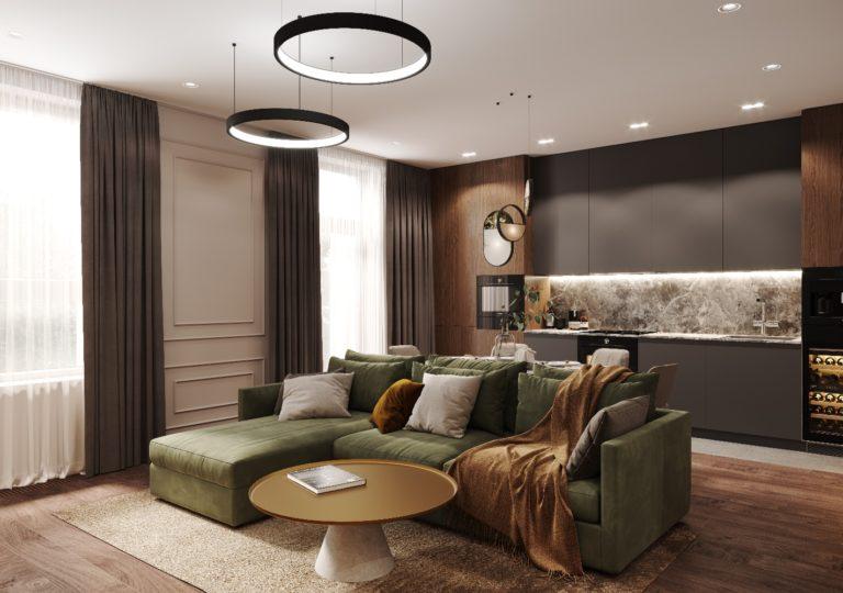 Квартира 102 кв.м. в современном стиле в ЖК Ботанический сад LIFE