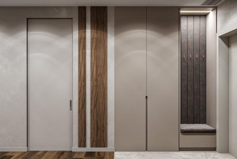 шкаф с высокими дверьми