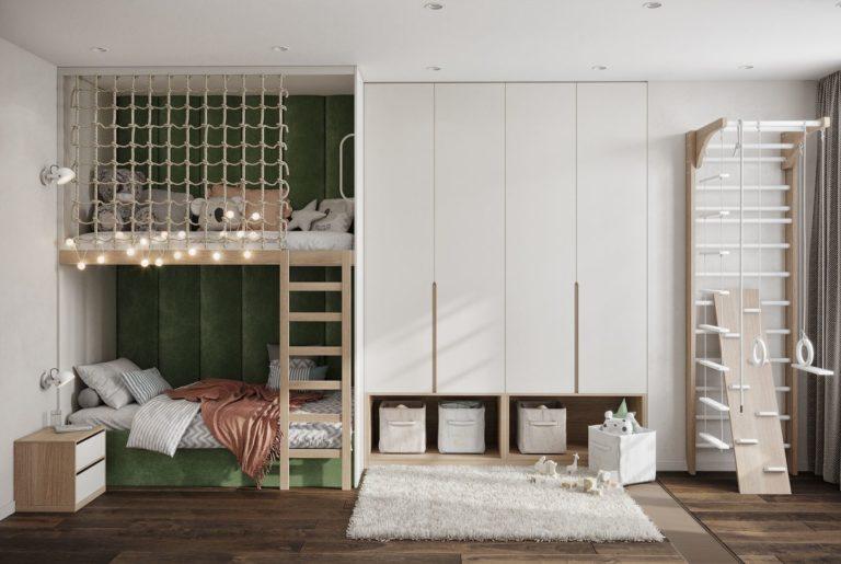 детская с двухъярусной кроватью
